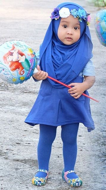 Hijab in blue