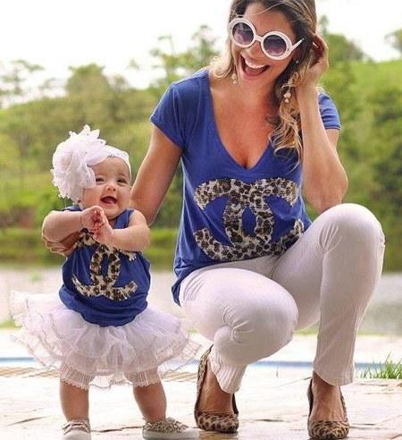 Baju Lucu Ibu dan Anak