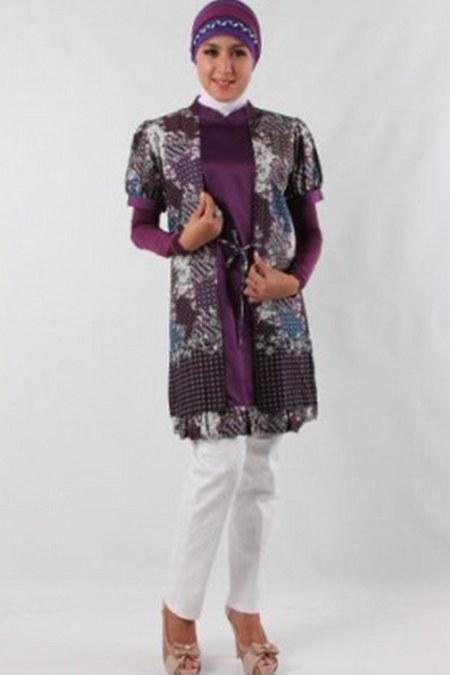Baju-Muslim-Batik-Tunik
