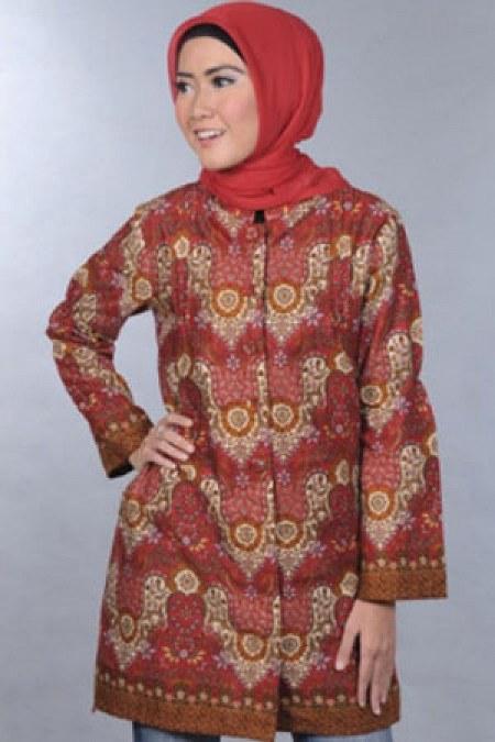 Batik-Island-Blus-Merah