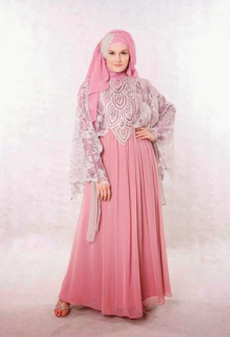 Long Dress Kebaya Modern Muslimah untuk Ibu Hamil