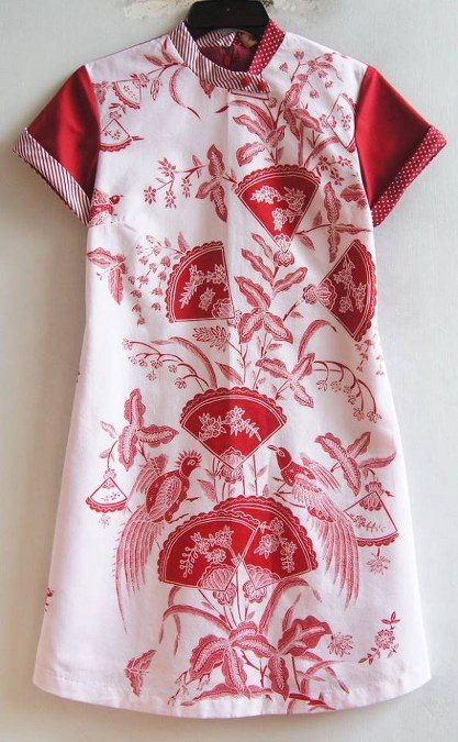 Double Shanghai Dress Berlengan Pendek