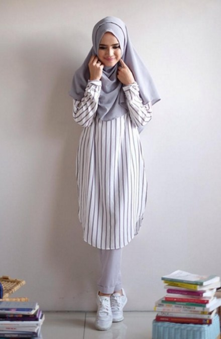 Model Baju Muslimah Trendi Untuk Kuliah Ide Model Busana