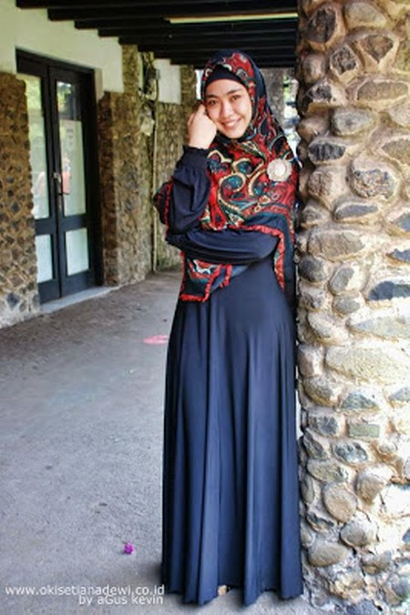 Baju Gamis Casual Oki Setiana Dewi