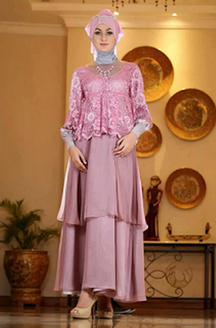 Gambar Baju Muslim Kebaya Modern untuk Ibu Hamil