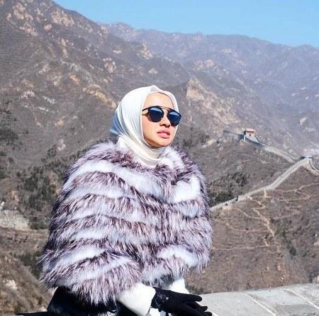 Hijab hangat ala Laudya Cynthia Bella