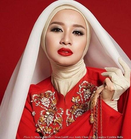 Inspirasi dari Busana Hijab Laudya Cynthia Bella (1)