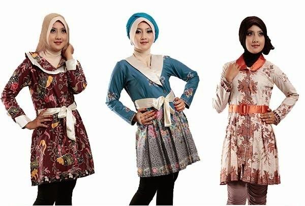 Model Baju Batik Wanita Untuk Kerja Ide Model Busana