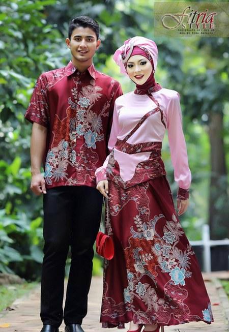 Model-Baju-Lebaran-Couple-Batik