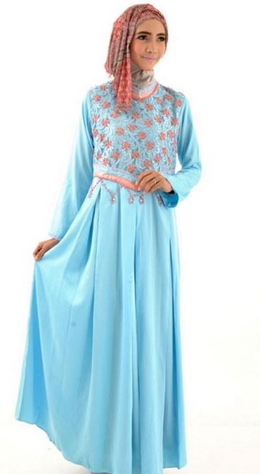 Model Baju Muslim Terbaru Gamis Pesta Modern 2016 Gamis