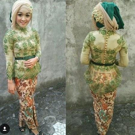 Model-kebaya-muslim-modern-warna-hijau