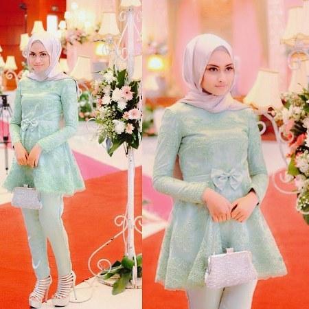 Model+baju+atasan+muslim+wanita+terbaru+untuk+pesta,+baby+doll+style