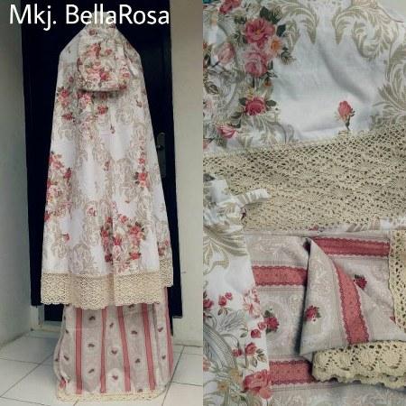 Mukena-Katun-Jepang-Terbaru-2016-Motif-Cantik-dan-Murah-Bella-Rose-Cream