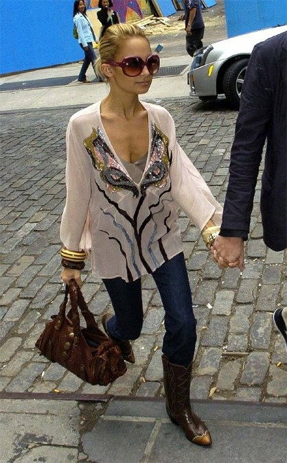 Nicole Richie wearing Antik Batik Blouse