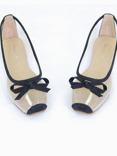 lovely bow flat shoes