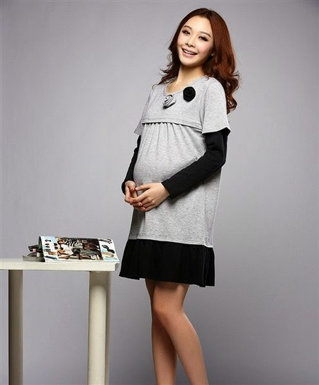 model-baju-hamil-modern-mini-dress