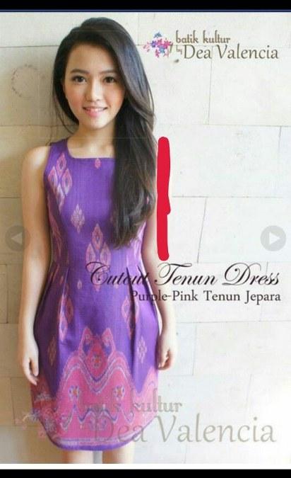 purple-pink tenun jepara