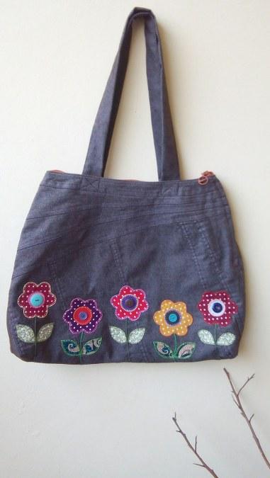 tas jeans bunga