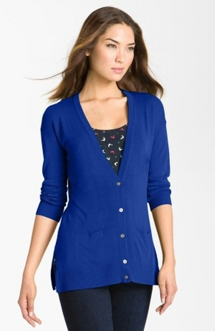 v-neck cardigan woman