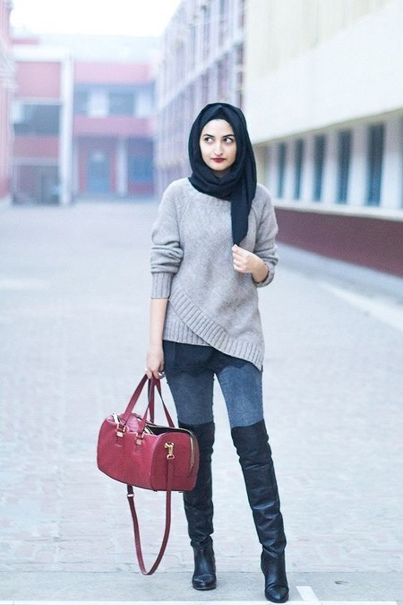 Dress Hijab dan Sepatu Boot (13)