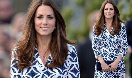 Duchess of Cambridge, Kate Middleton, batik dress by Diane Von Furstenberg