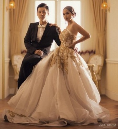 Foto Pernikahan Putri Titian dan Junior Liem (3)