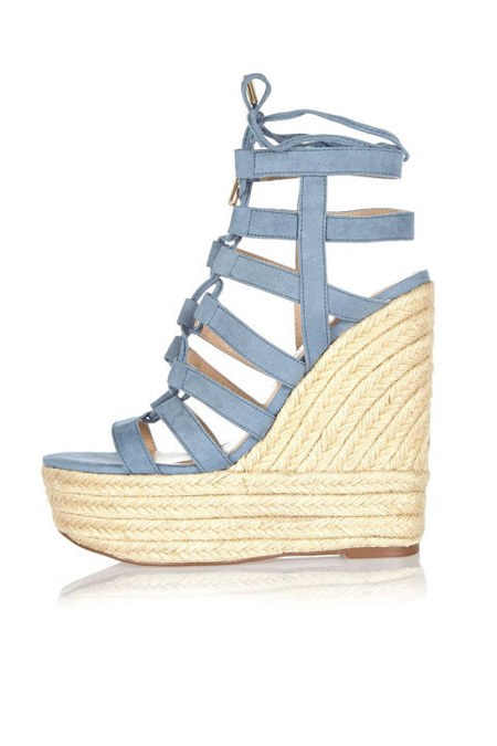 River Island Suede Gladiator Wedges