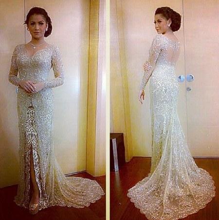 gaun pengantin model kebaya modern