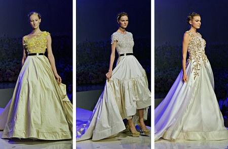 gaun pengantin simple dan feminin