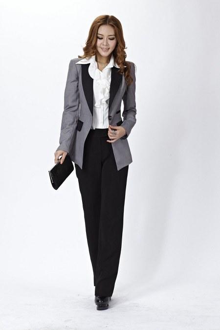 kemeja puith+blazer+celana hitam