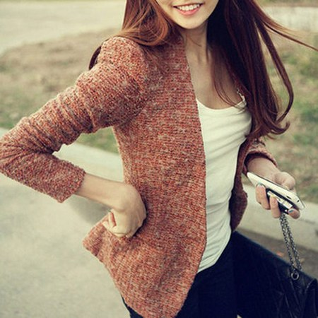 korean wool blazer for women
