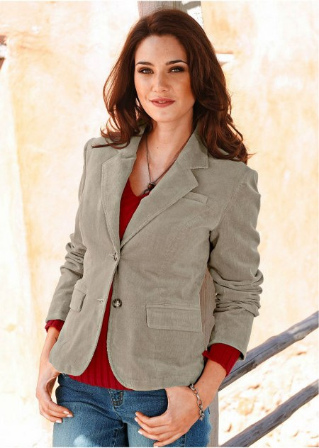 ladies cotton blazer