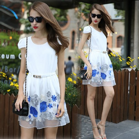 mini dress siffon printed