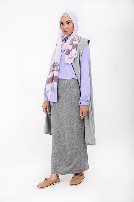 mix-n-match-long-vest-kemeja-dan-rok-pensil