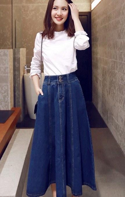 model-rok-jeans-panjang-sederhana