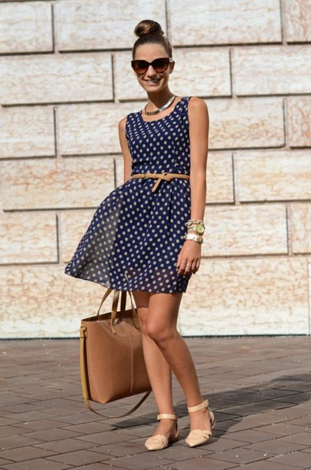 simpel polkadot dress