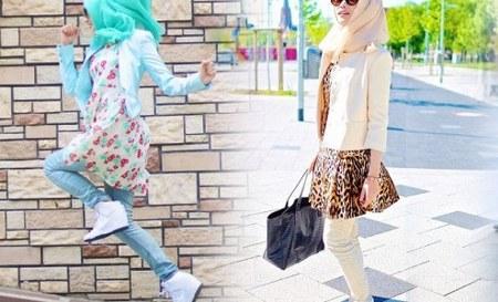 mini dress dengan blazer dan celana panjang