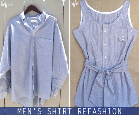 Refashion-shirt-into-Chic-Top