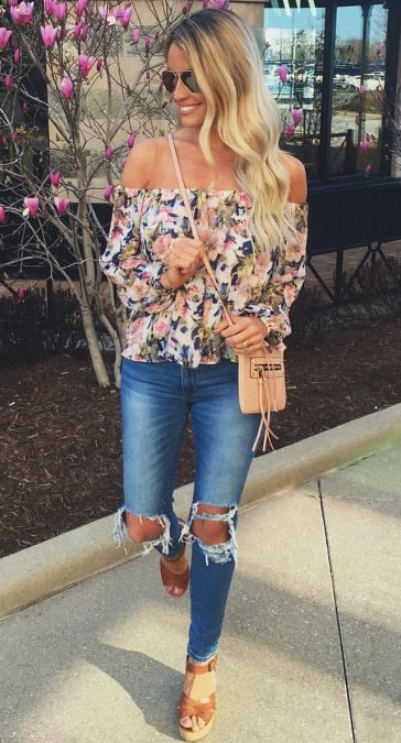 off-shoulder-floral-and-ripped-jeans