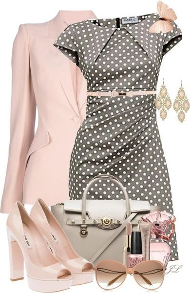 Padu-Padan Polkadot Dress