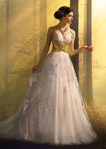 Disney princess wedding dress