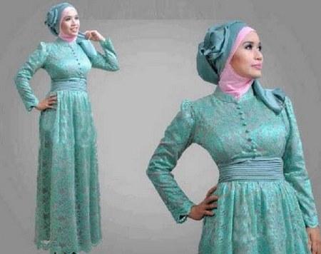 Contoh Model Desain Baju Muslim Brokat Terbaru 2015 7 Model Hijab