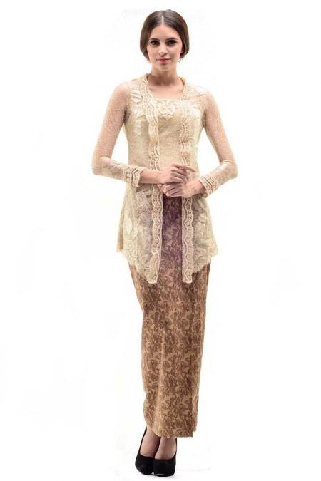 Contoh Model Kebaya Modern Pernikahan Terbaru Simple Elegan