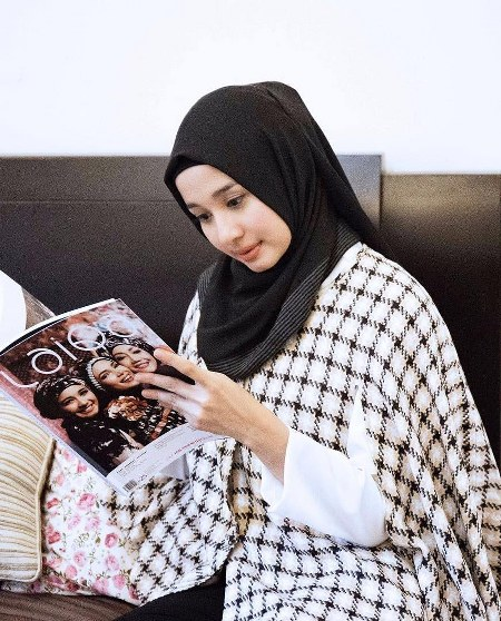Hijab Santai ala Laudya Cynthia Bella (13)