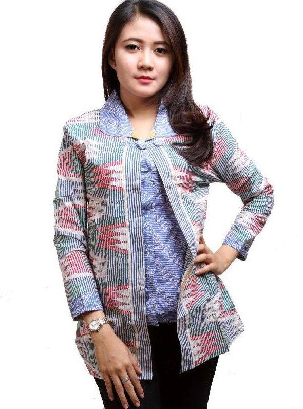 Model Baju Batik Kerja Modern untuk Wanita Copy