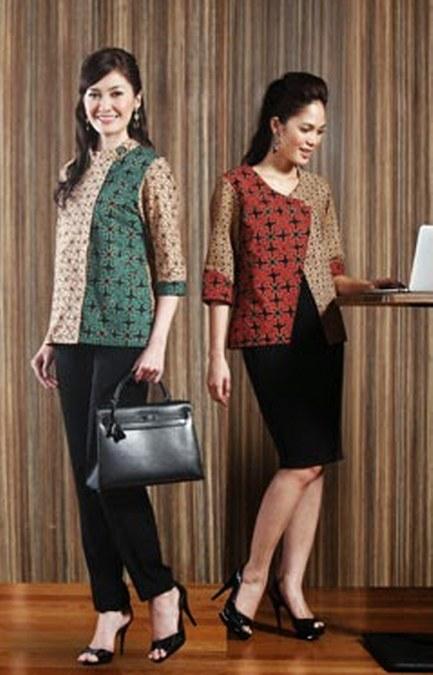 Model Baju Kerja Batik 433x675