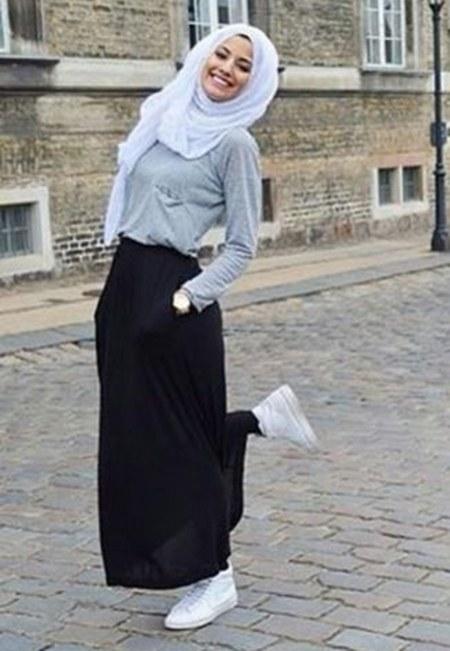 Padu-Padan-Rok-Muslim-Casual-untuk-kuliah