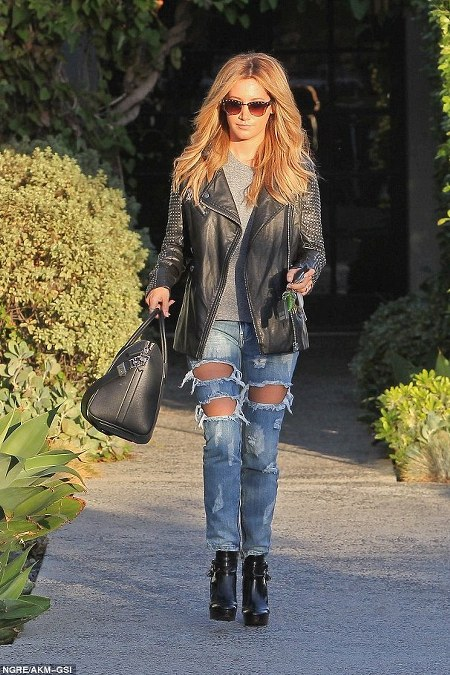 Ashley Tisdale Ripped Jeans