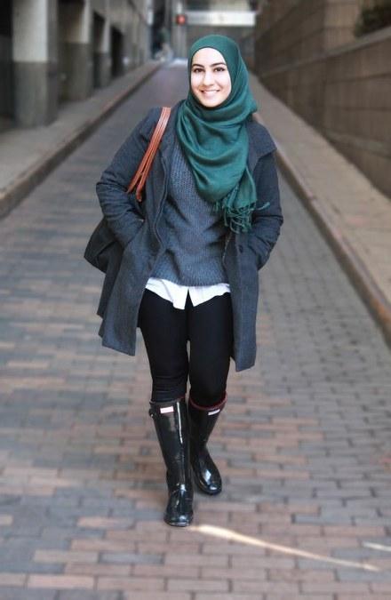 Dress Hijab dan Sepatu Boot (10)